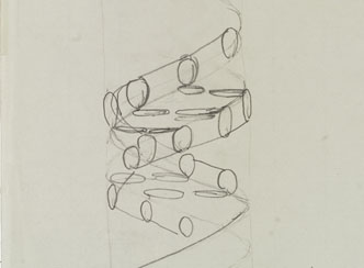First Sketch of the DNA Double Helix